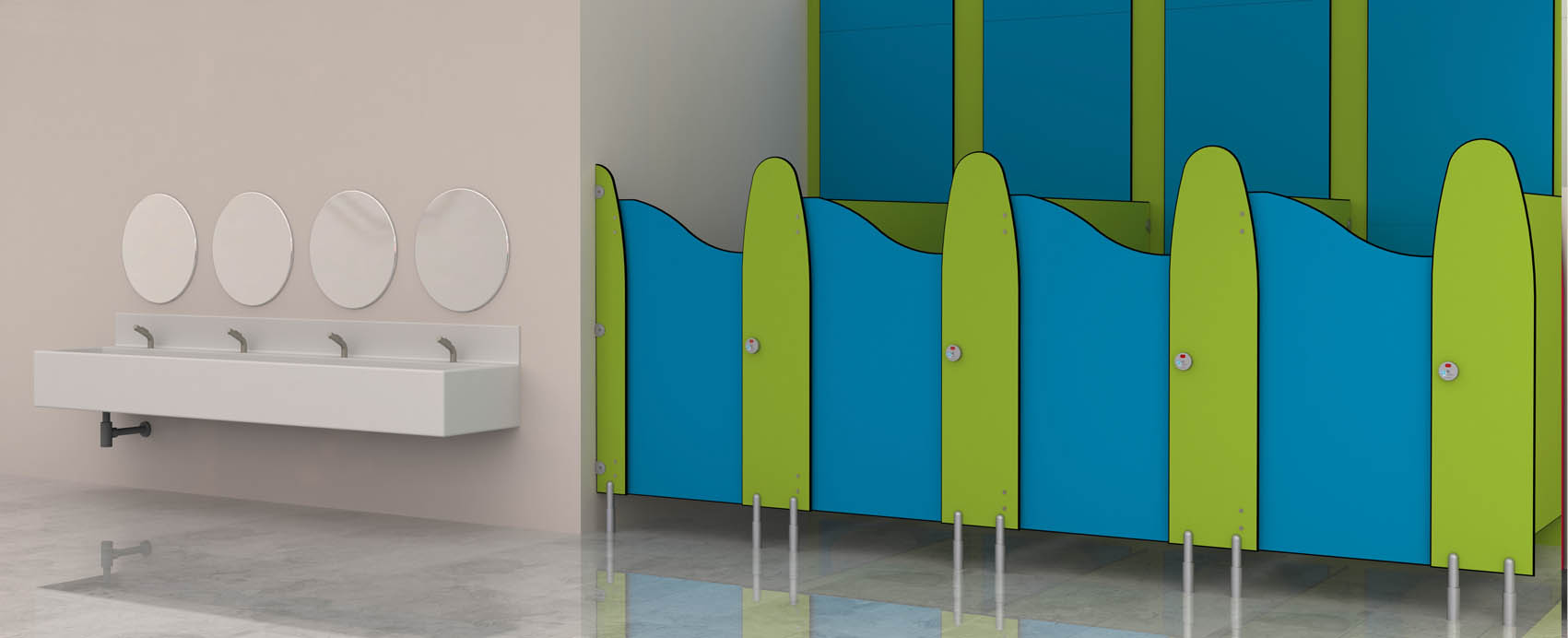 Tiny Tots Washroom For Schools Cubicle Systems