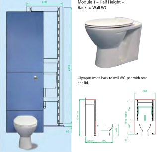 Flush Button Toilet