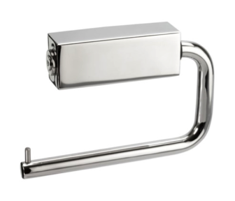 satin stainless steel deluxe toilet roll holder