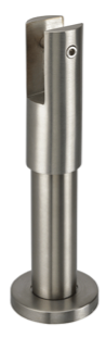 satin stainless steel adjustable leg