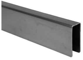 satin stainless steel angle headrail