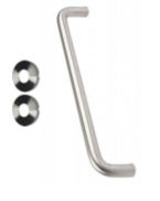 Satin Stainless Steel Pull Handle and Rosette
