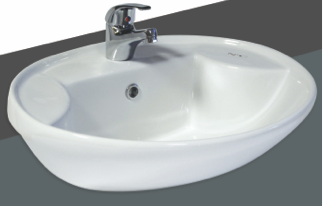 commercial washroom tap and basin