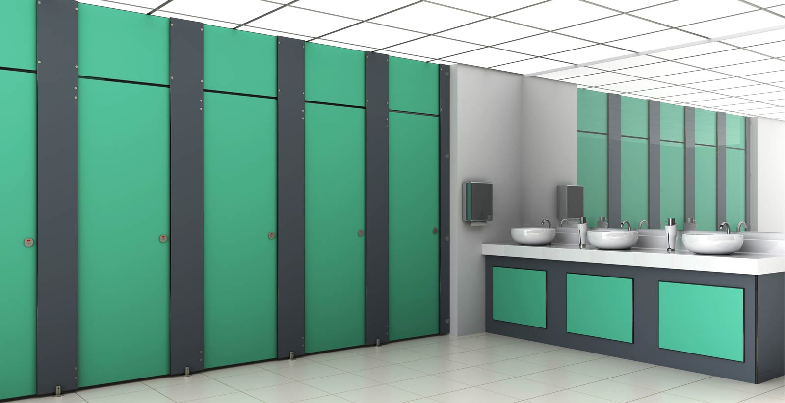 Cubicle Systems commercial toilet cubicles