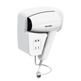 Wall-mounted-hair-dryer-with-shaver-socket